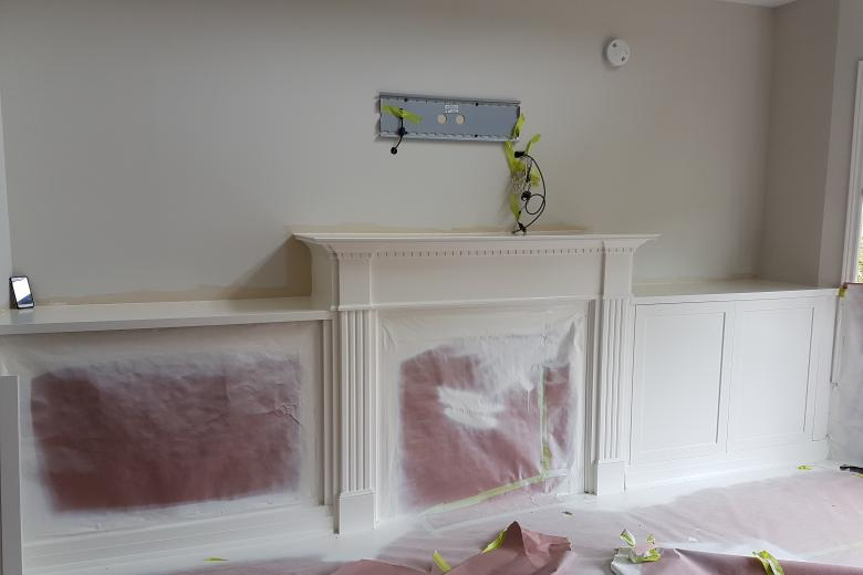 wall unit and fireplace restoration